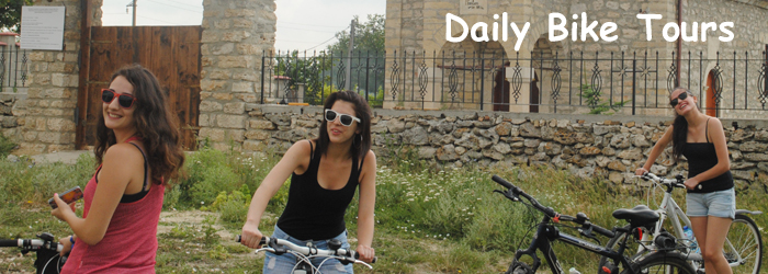 Daily bike tours in Bulgaria close to Black Sea coast